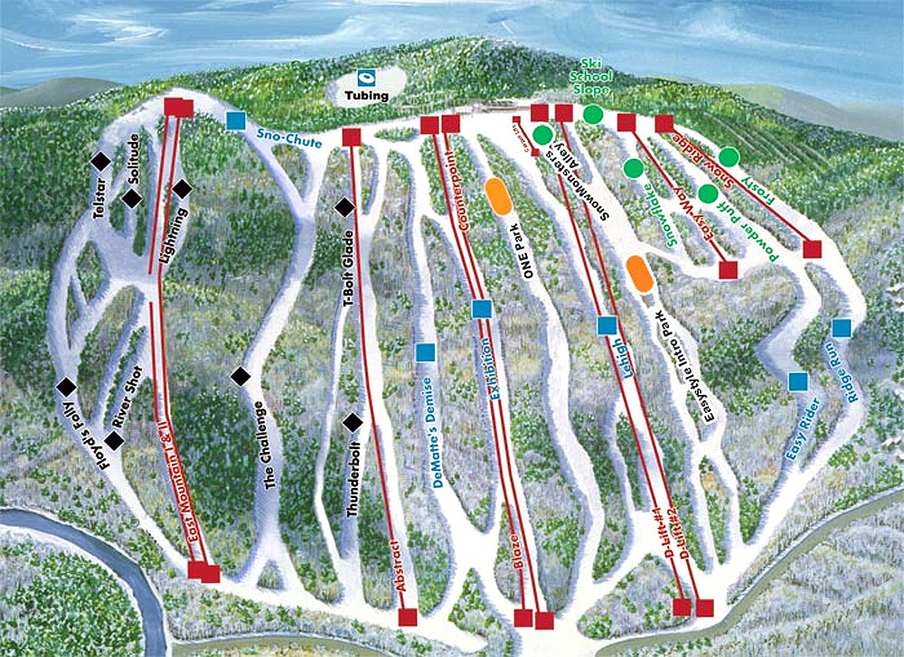 Jack Frost Piste / Trail Map