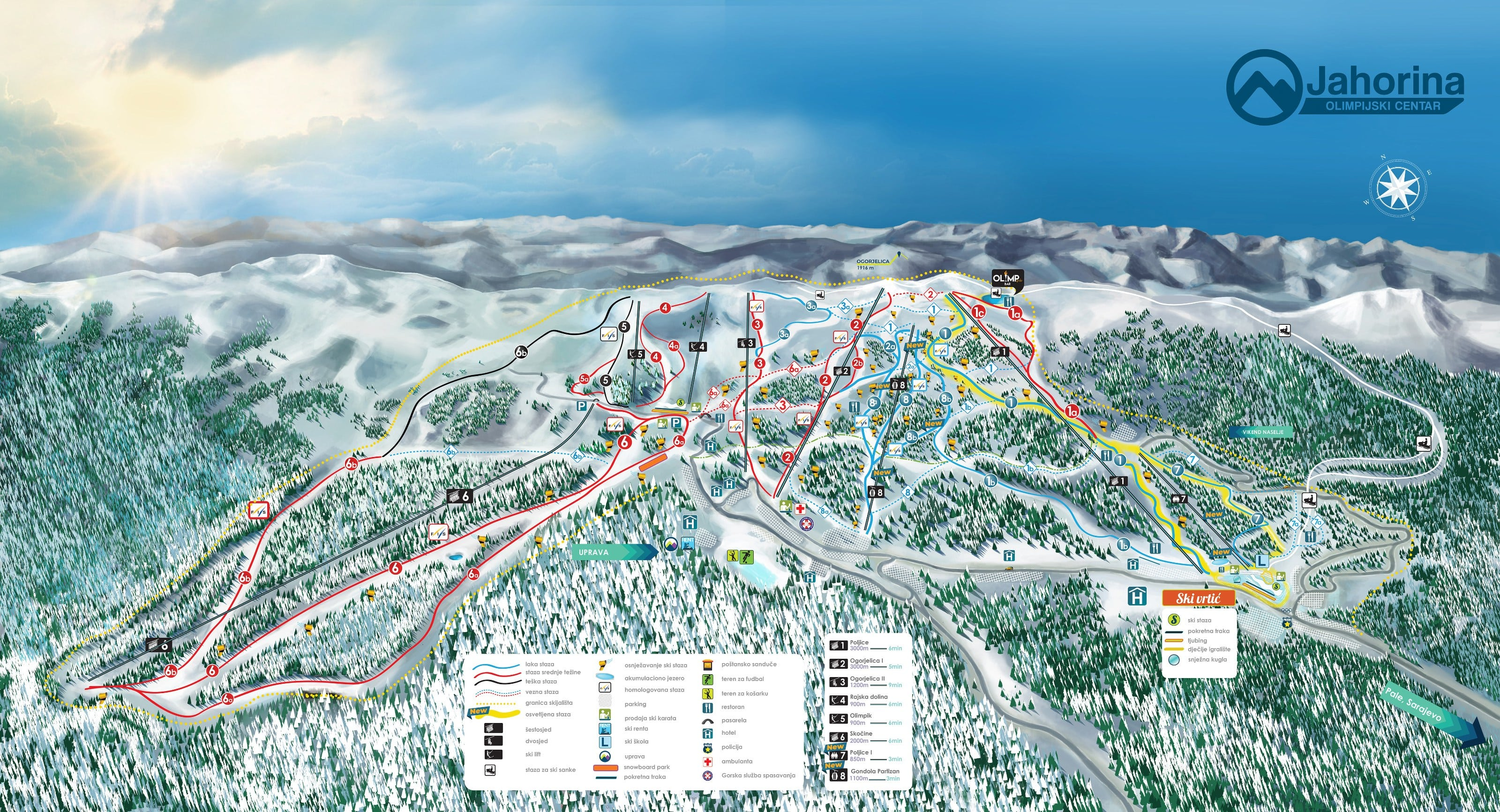Jahorina Piste / Trail Map