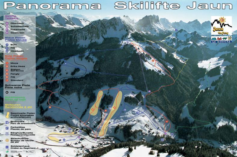 Jaun Piste / Trail Map