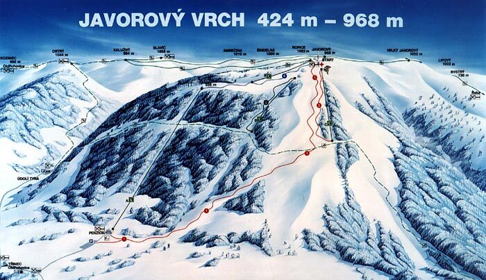 Javorový Vrch Piste / Trail Map