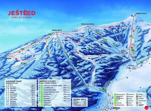 Ještěd Piste / Trail Map