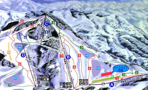 Jeunesse Kurikoma Piste / Trail Map