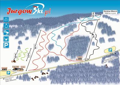 Jurgów Ski Piste / Trail Map
