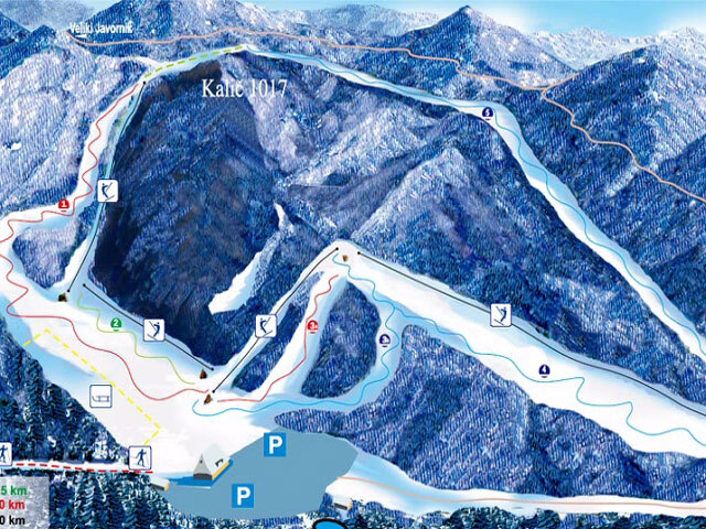 Kalič Piste / Trail Map