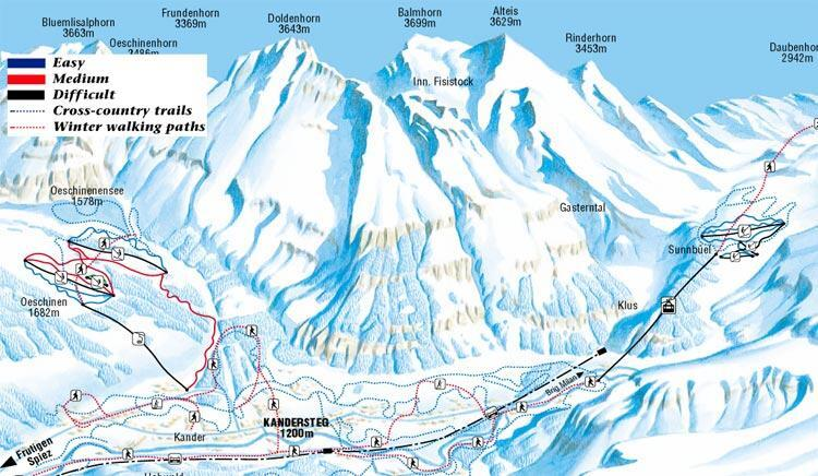 Kandersteg Piste / Trail Map
