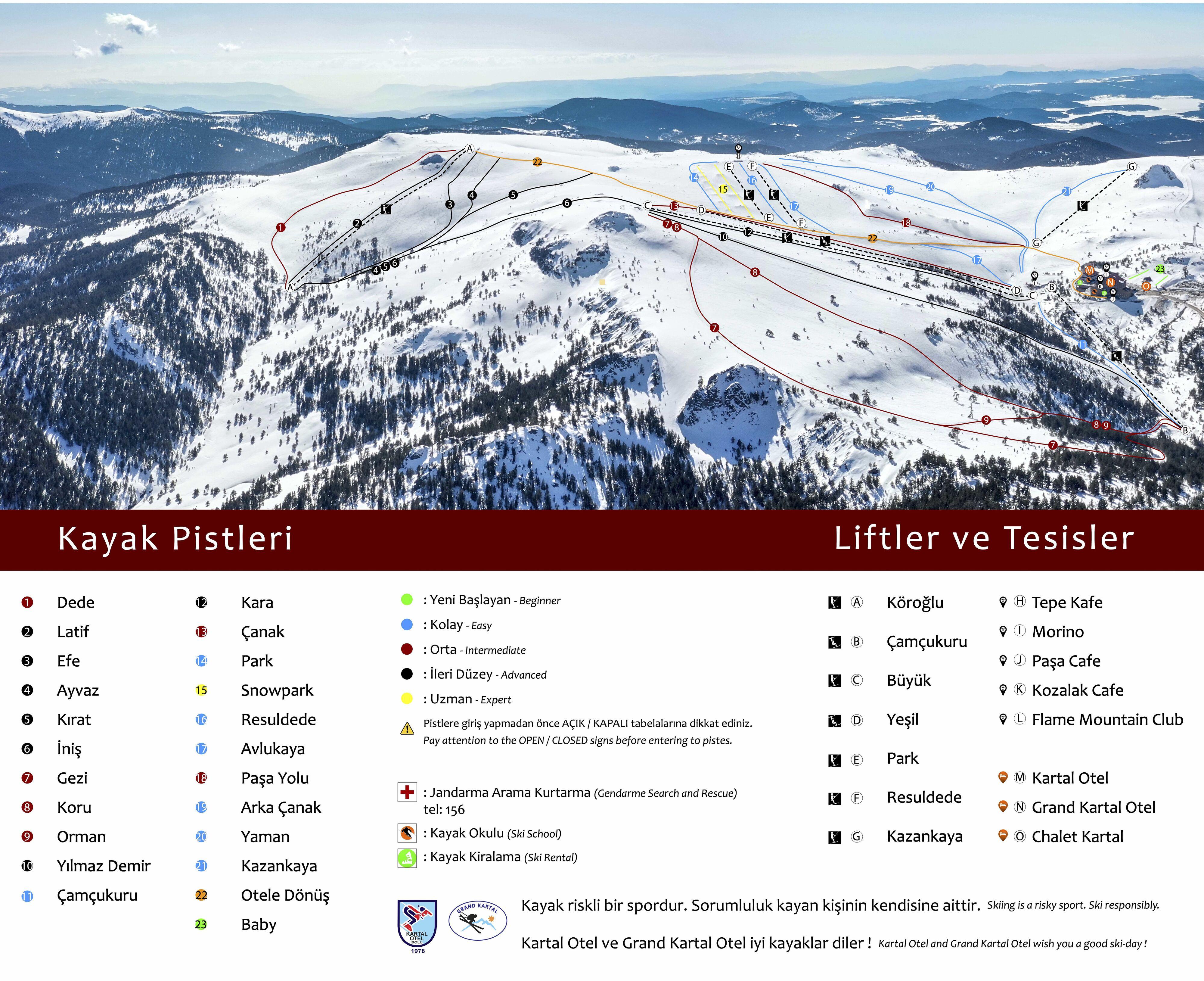 Kartalkaya Ski Resort Guide Location Map Kartalkaya Ski Holiday
