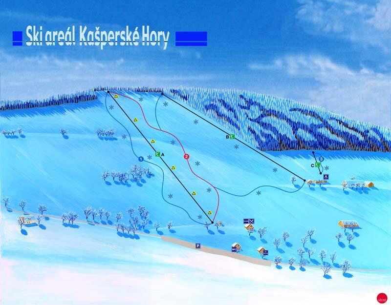 Kašperské Hory - Šumava Piste / Trail Map