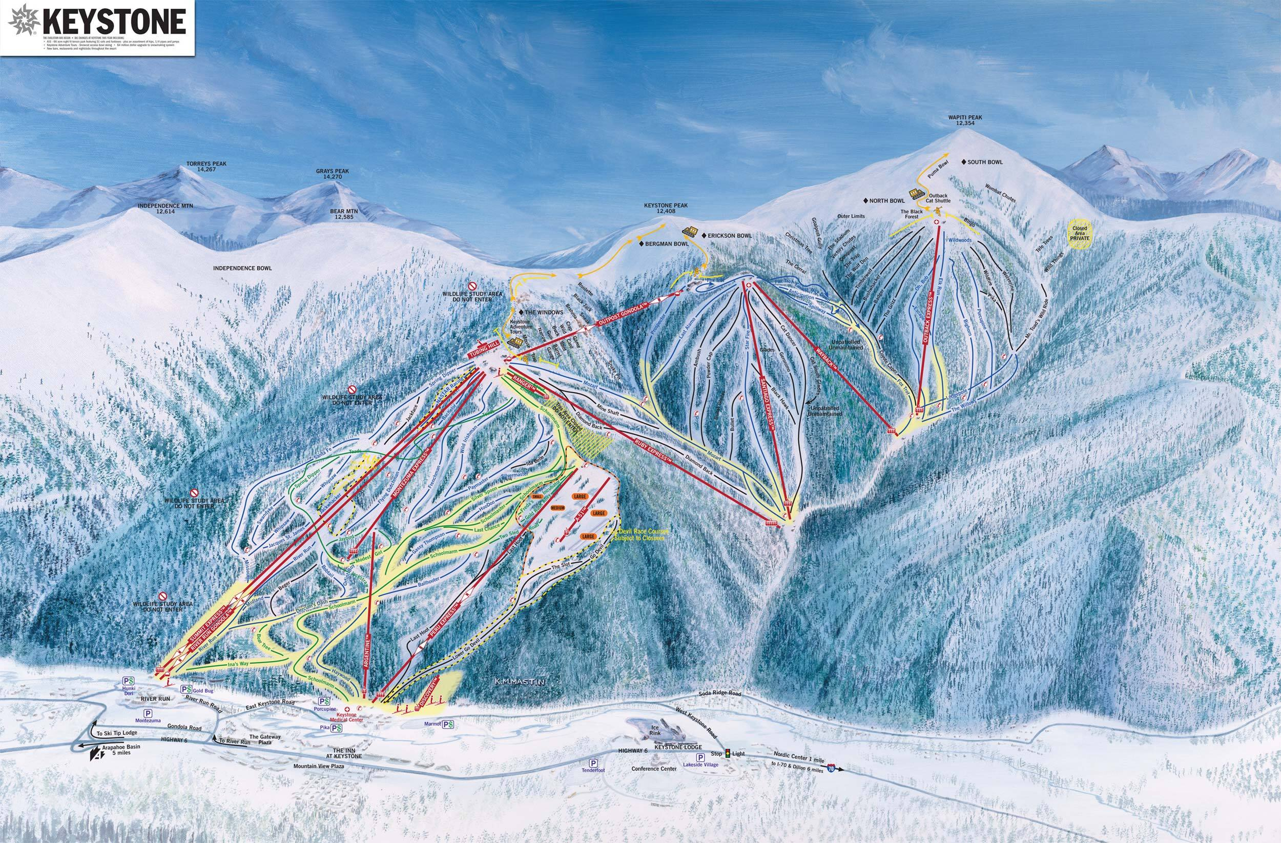 Skiing Colorado Map.Keystone Ski Resort Guide Location Map Keystone Ski Holiday