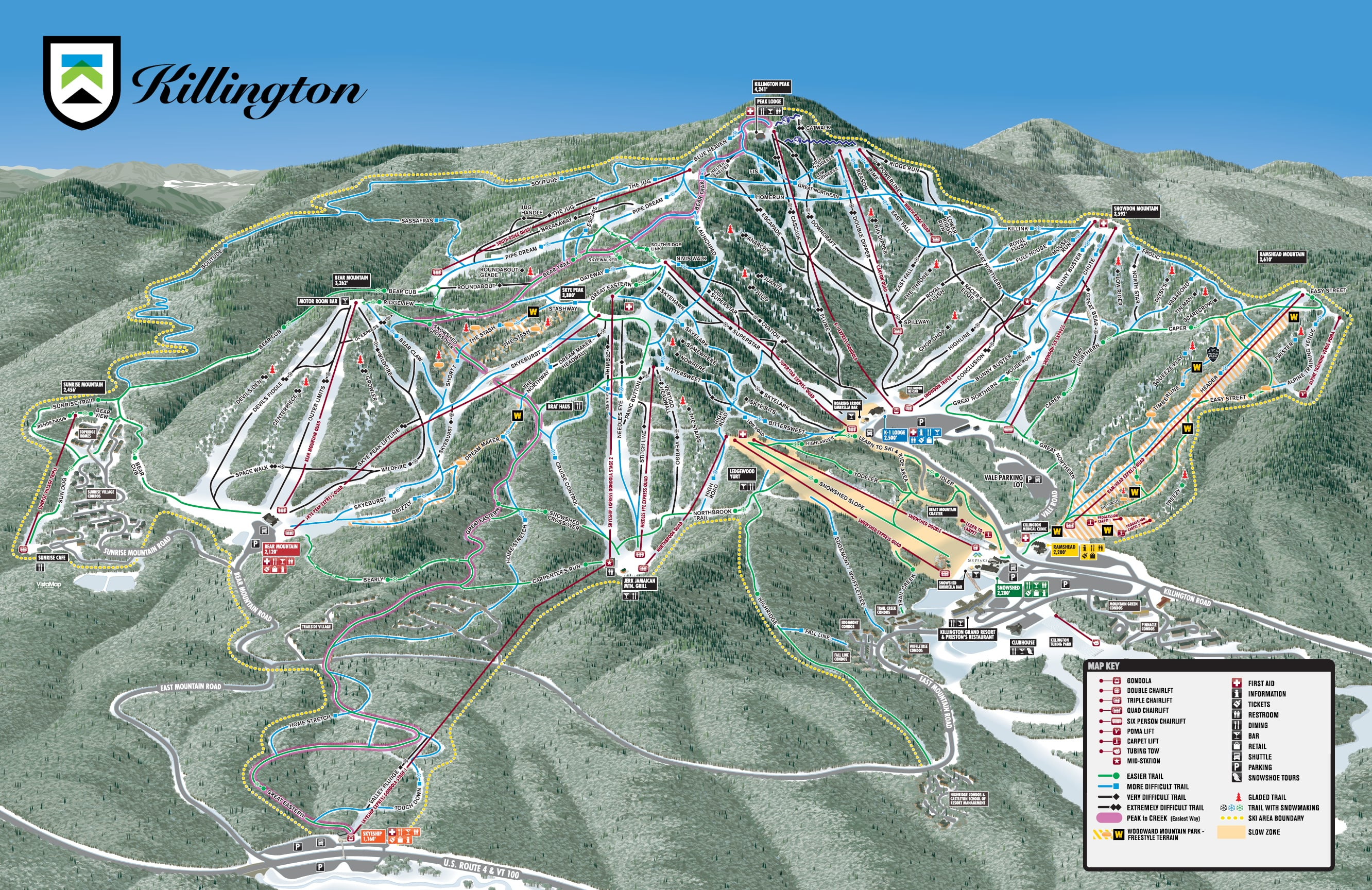 Killington Piste / Trail Map