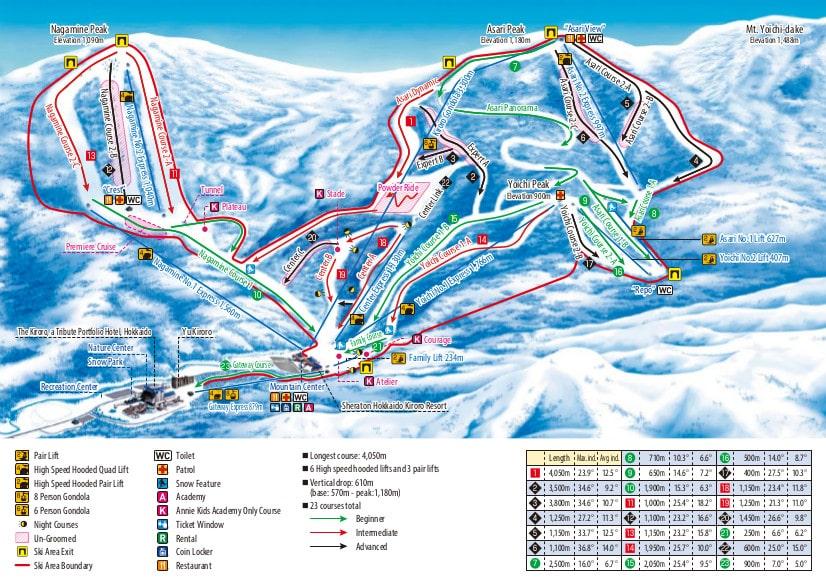 Kiroro Resort Piste / Trail Map