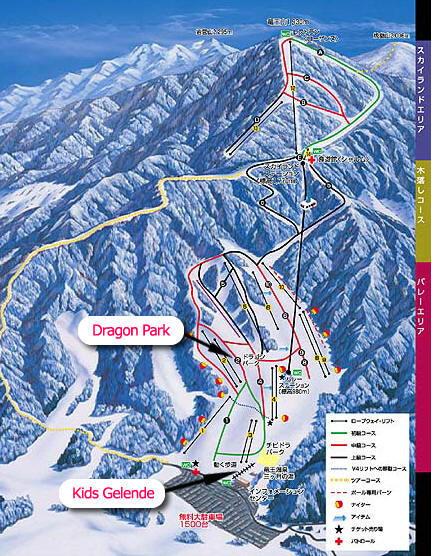 Kita Shiga Ryuo Piste / Trail Map