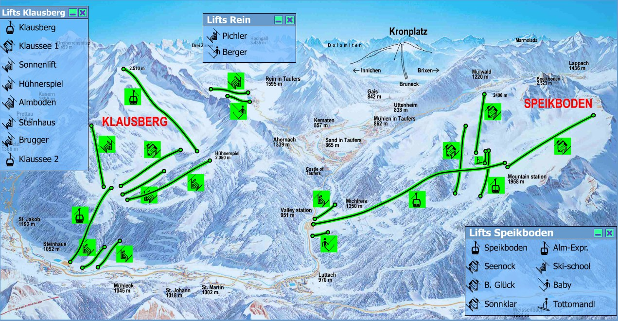 Klausberg Piste Map Trail Map