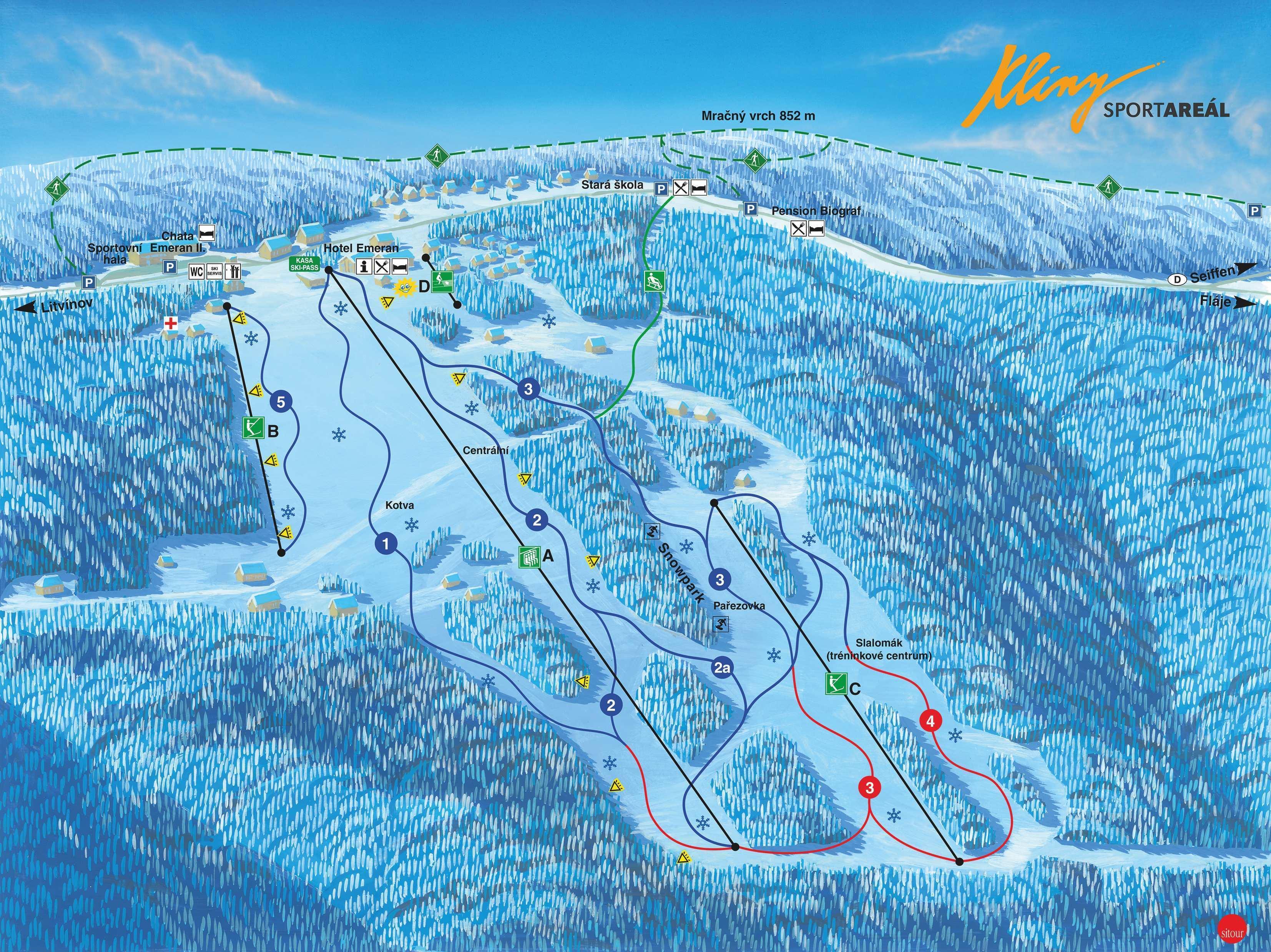 Klíny Piste / Trail Map