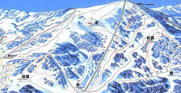 Klippitztörl Piste / Trail Map
