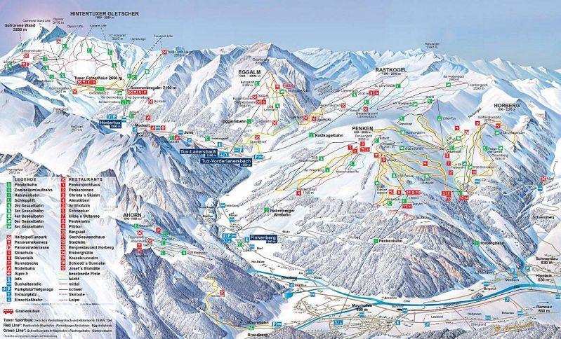 Königsleiten Piste / Trail Map
