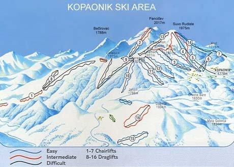 Kopaonik Piste / Trail Map
