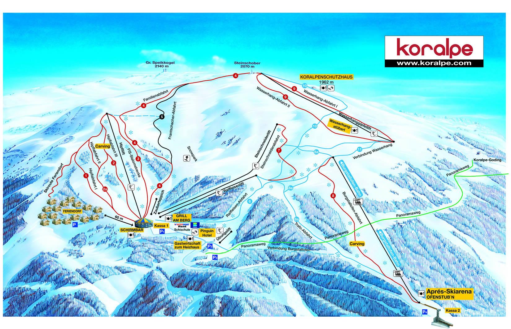 Koralpe Piste / Trail Map