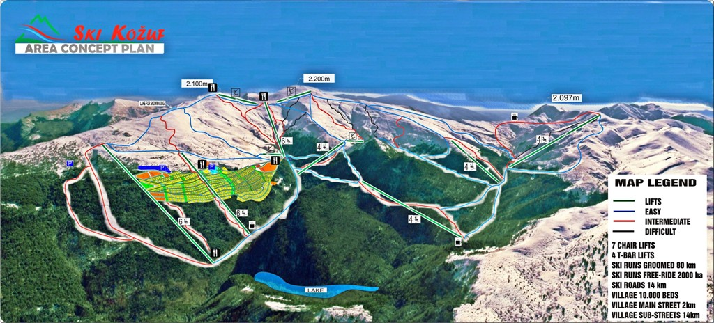 Kozuf Piste / Trail Map
