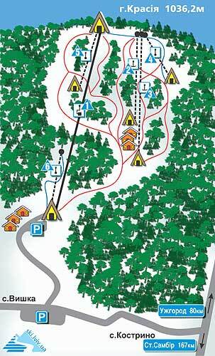 Krasiya Piste / Trail Map