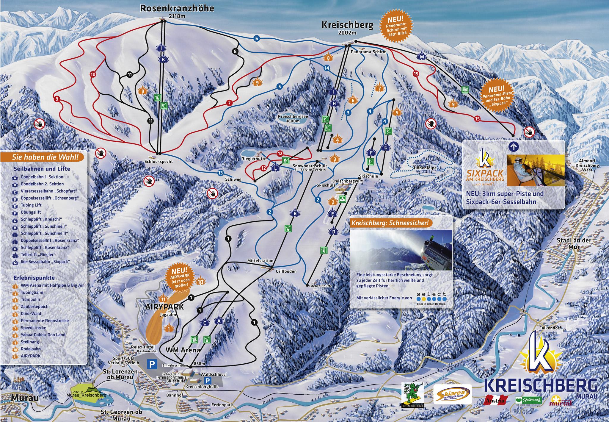 Murau/Kreischberg Piste / Trail Map