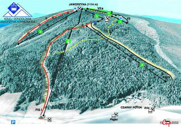 Jaworzyna Krynicka Piste / Trail Map