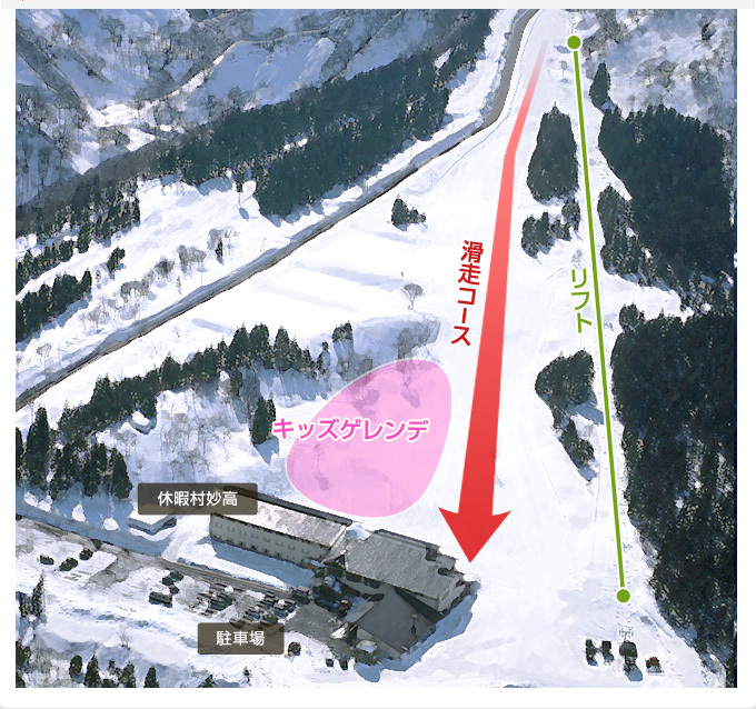 Kyukamura Myoko Piste / Trail Map