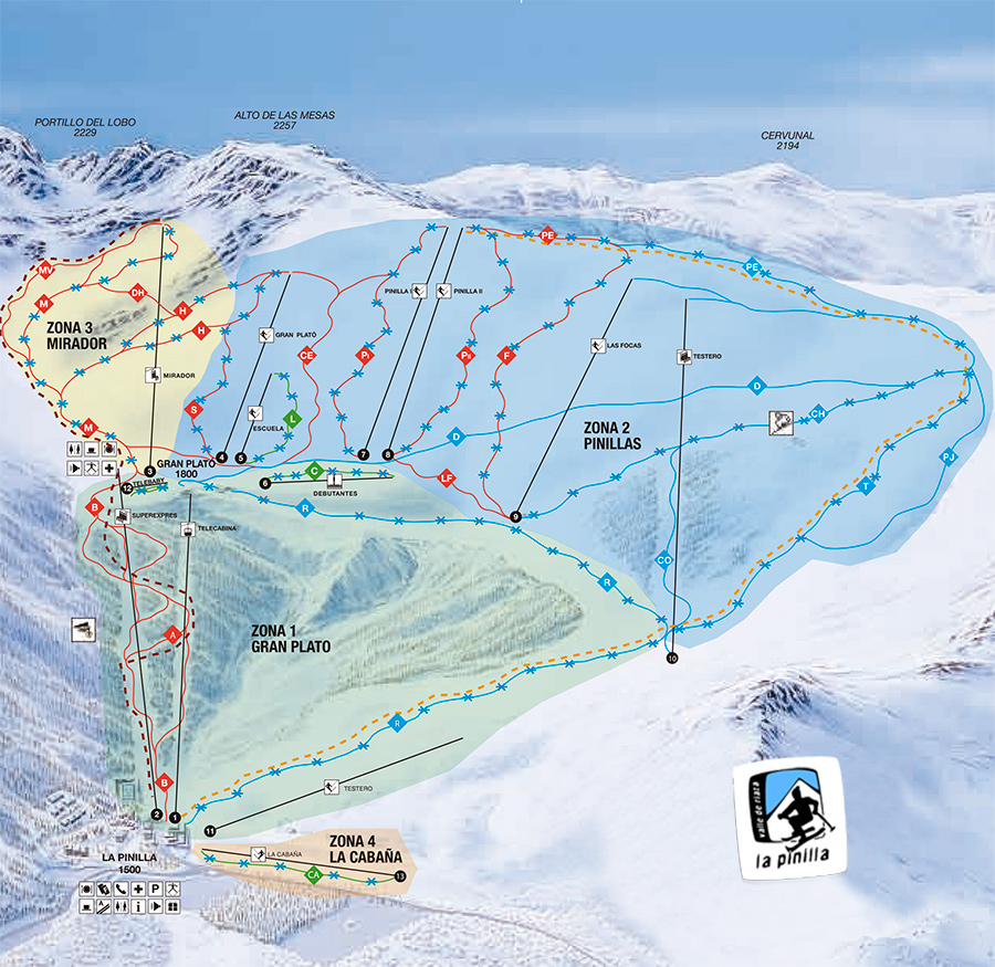 La-Pinilla Piste / Trail Map