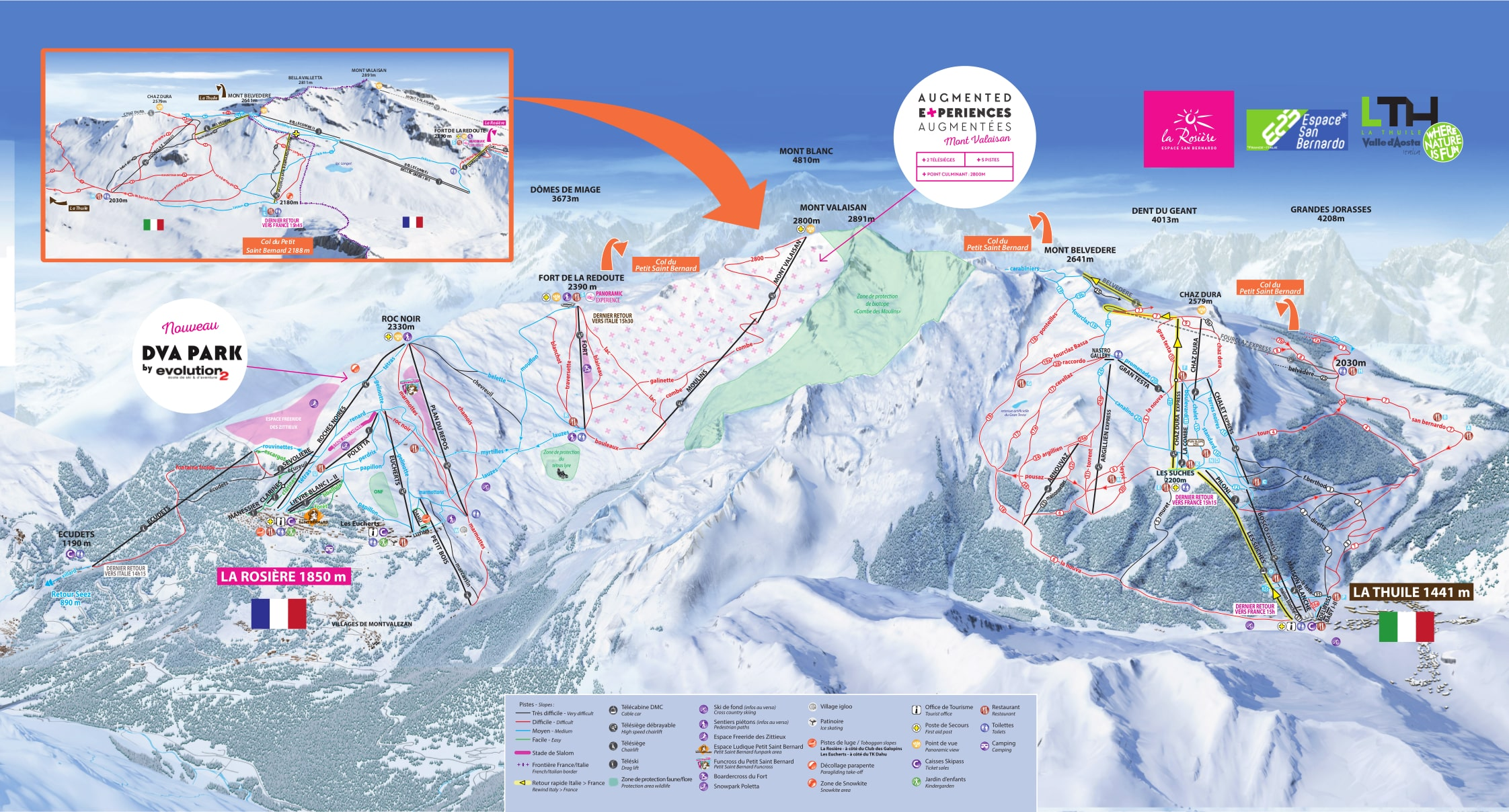 La Rosire Piste Map Trail Map