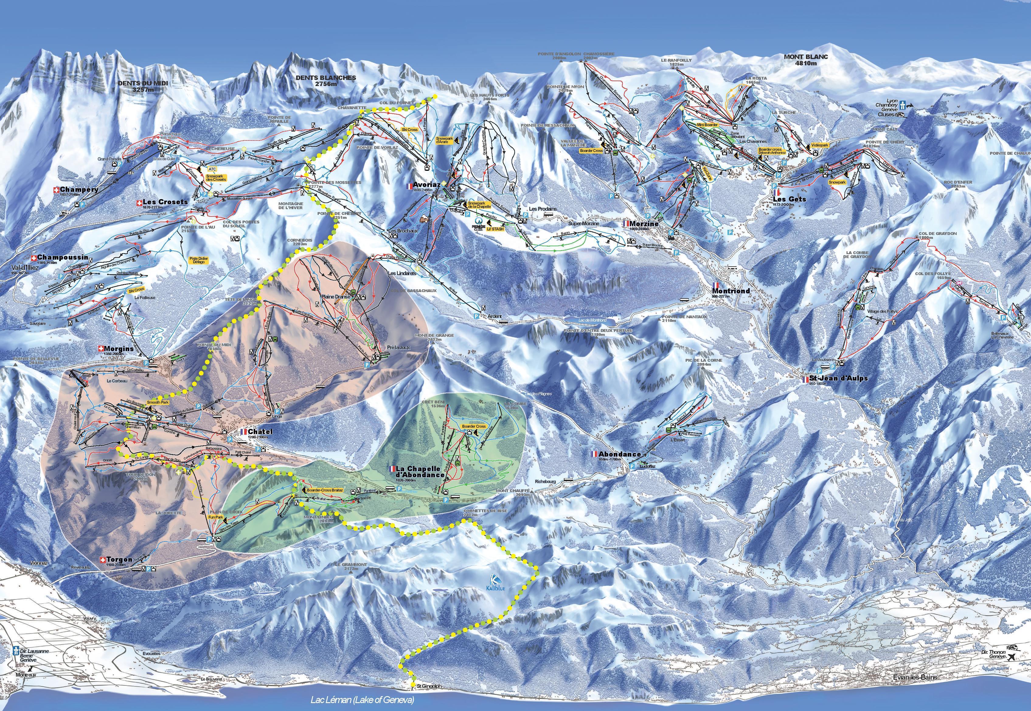 La Chapelle d'Abondance Piste / Trail Map