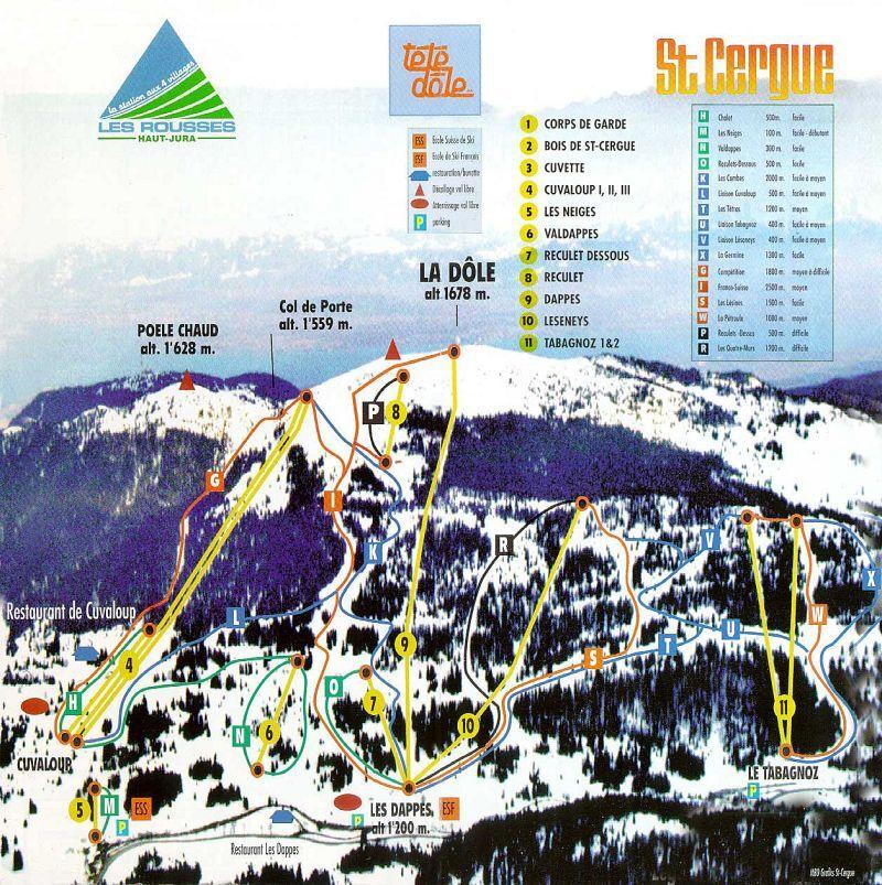La Dôle Piste / Trail Map