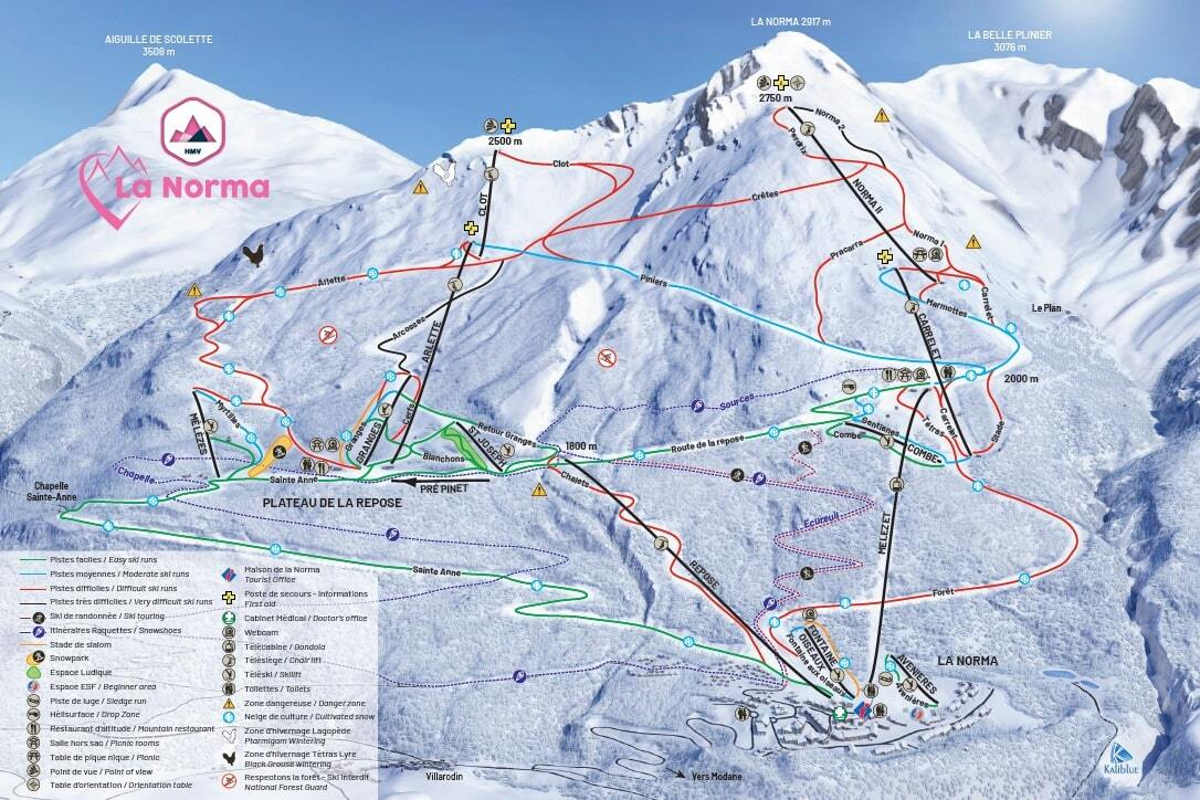 La Norma Piste / Trail Map