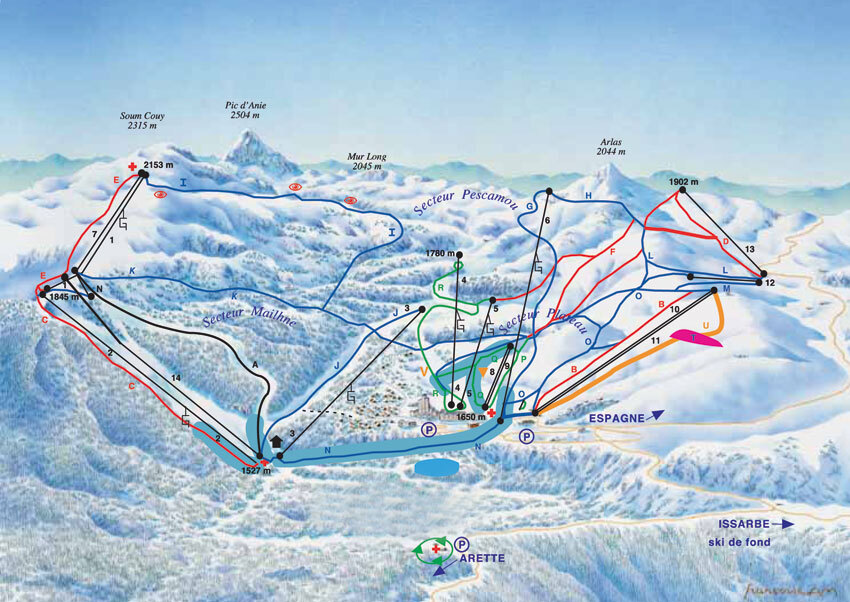 La Pierre Saint Martin Piste / Trail Map