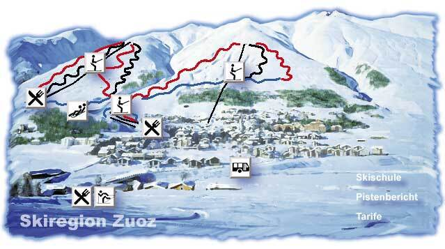 La Punt/Engadin Piste / Trail Map