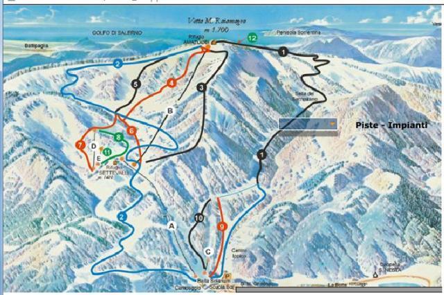 Laceno Piste / Trail Map