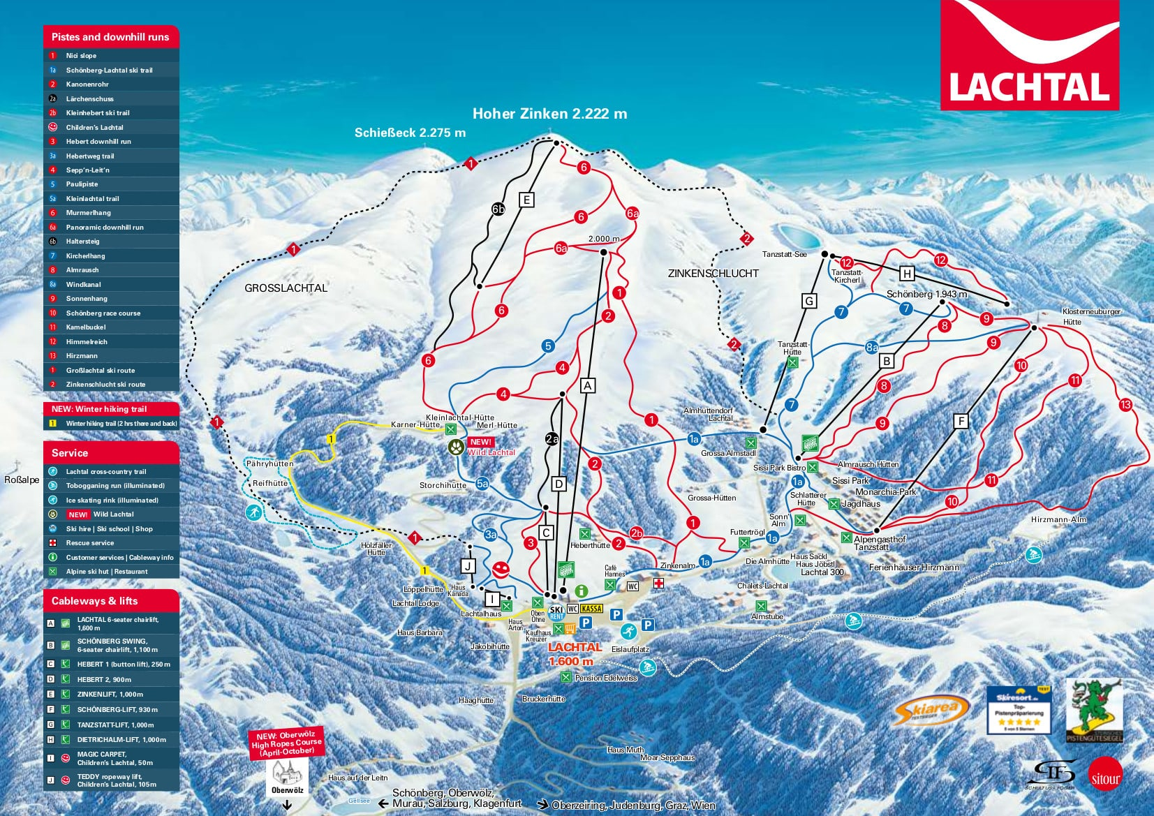 Lachtal Piste / Trail Map