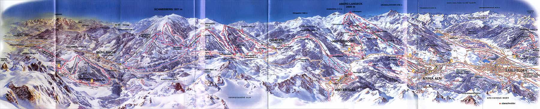 Langenbruck Piste / Trail Map