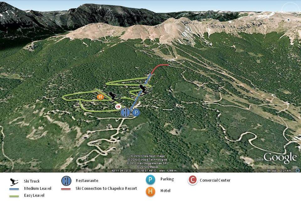 Las Pendientes Piste / Trail Map