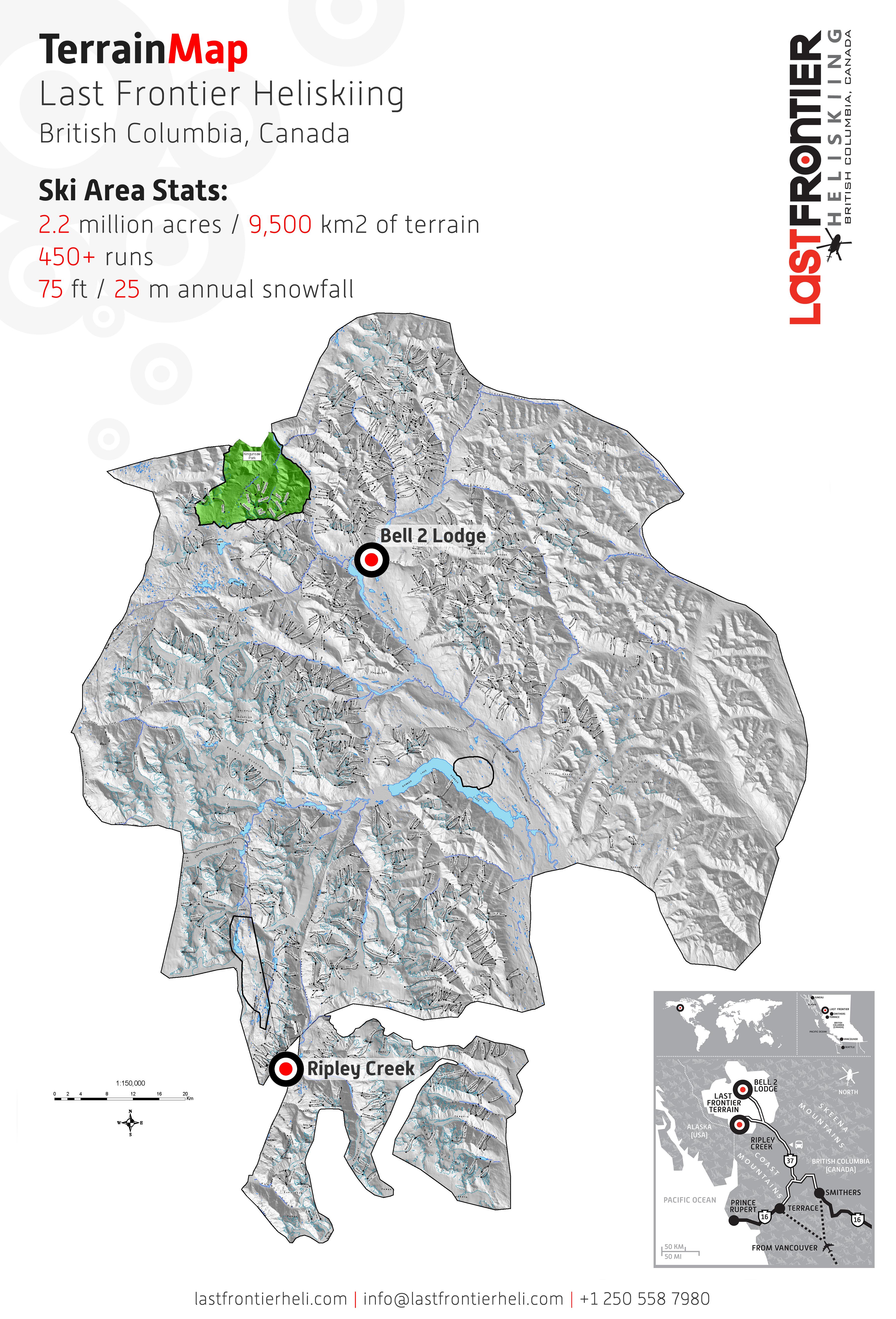 Last Frontier Heliskiing Piste / Trail Map