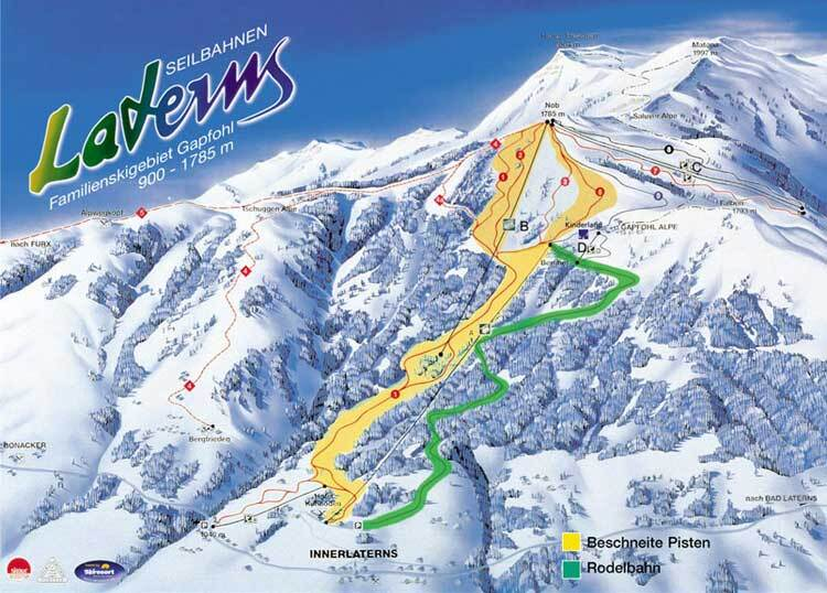 Laternser Tal Piste / Trail Map