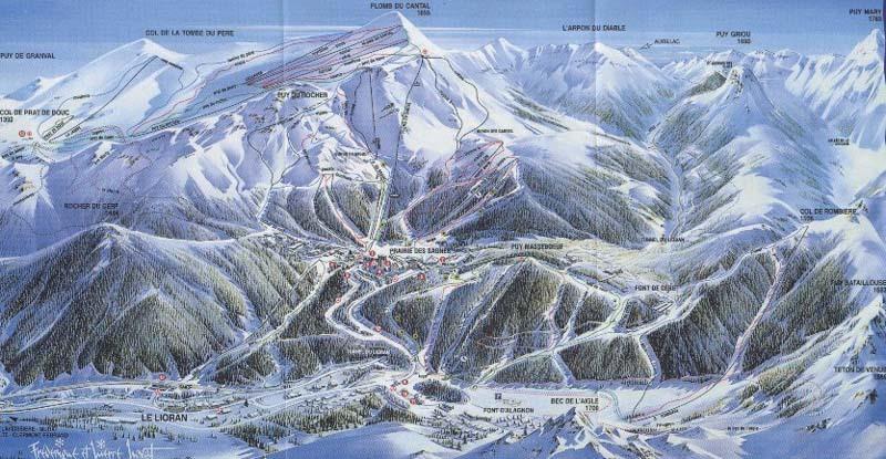 Le Lioran Piste / Trail Map