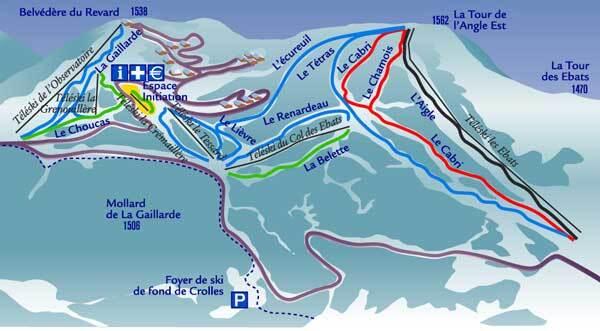 Savoie Grand Revard Piste / Trail Map