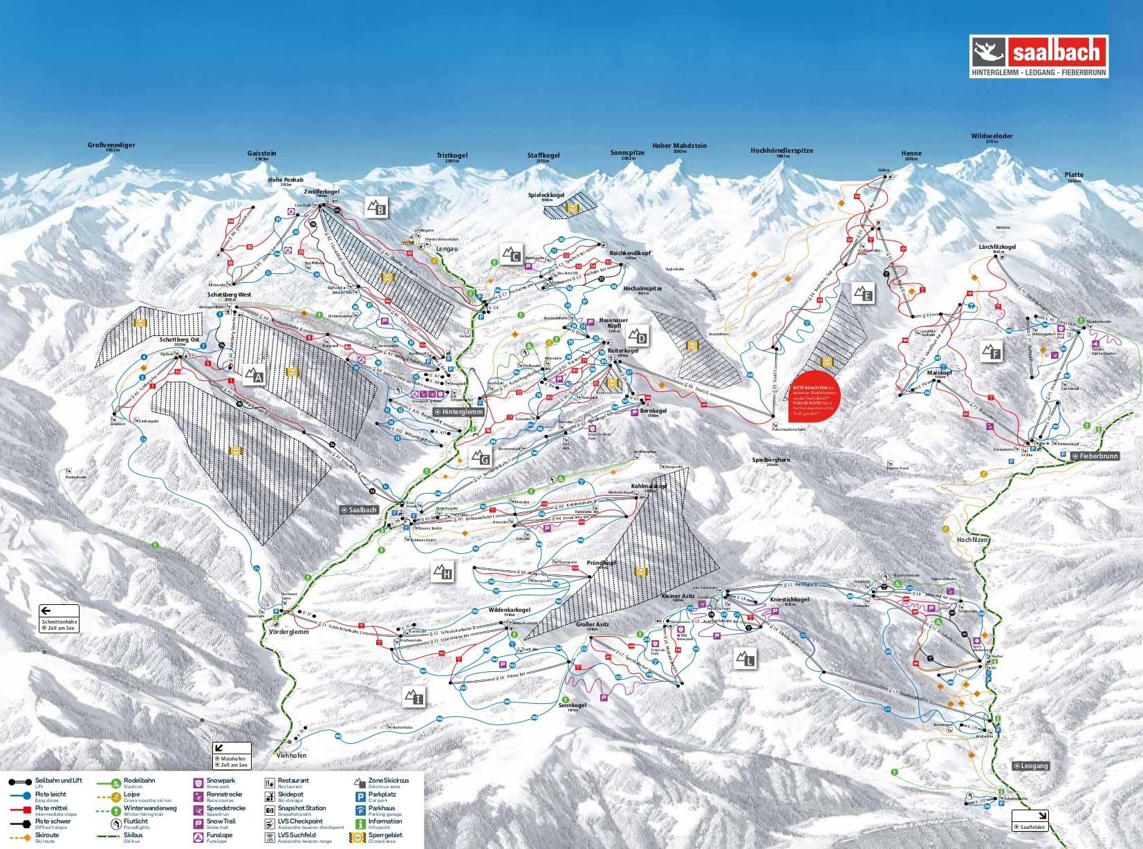 Leogang Piste / Trail Map