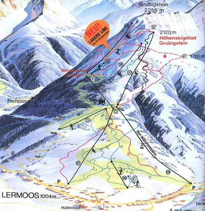 Lermoos Piste Map Trail Map