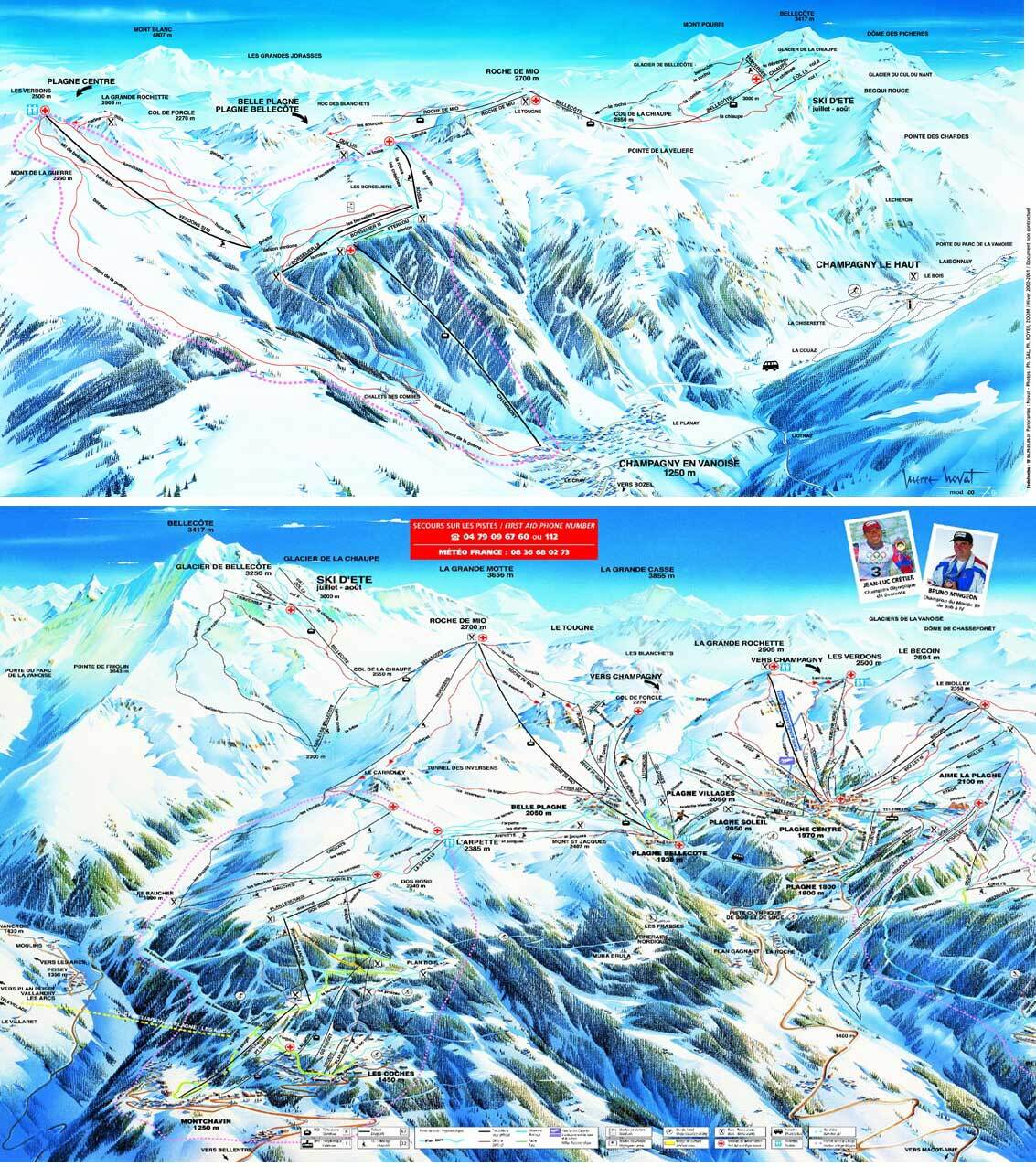 Les Coches Piste Map Trail Map