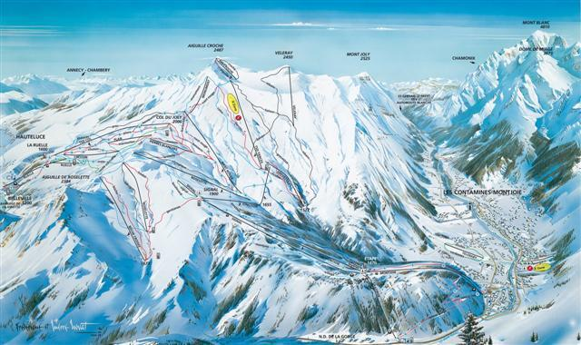 Les Contamines Piste / Trail Map