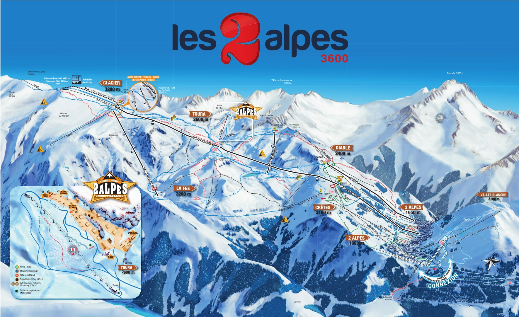 Lift map les deux alpes webcam