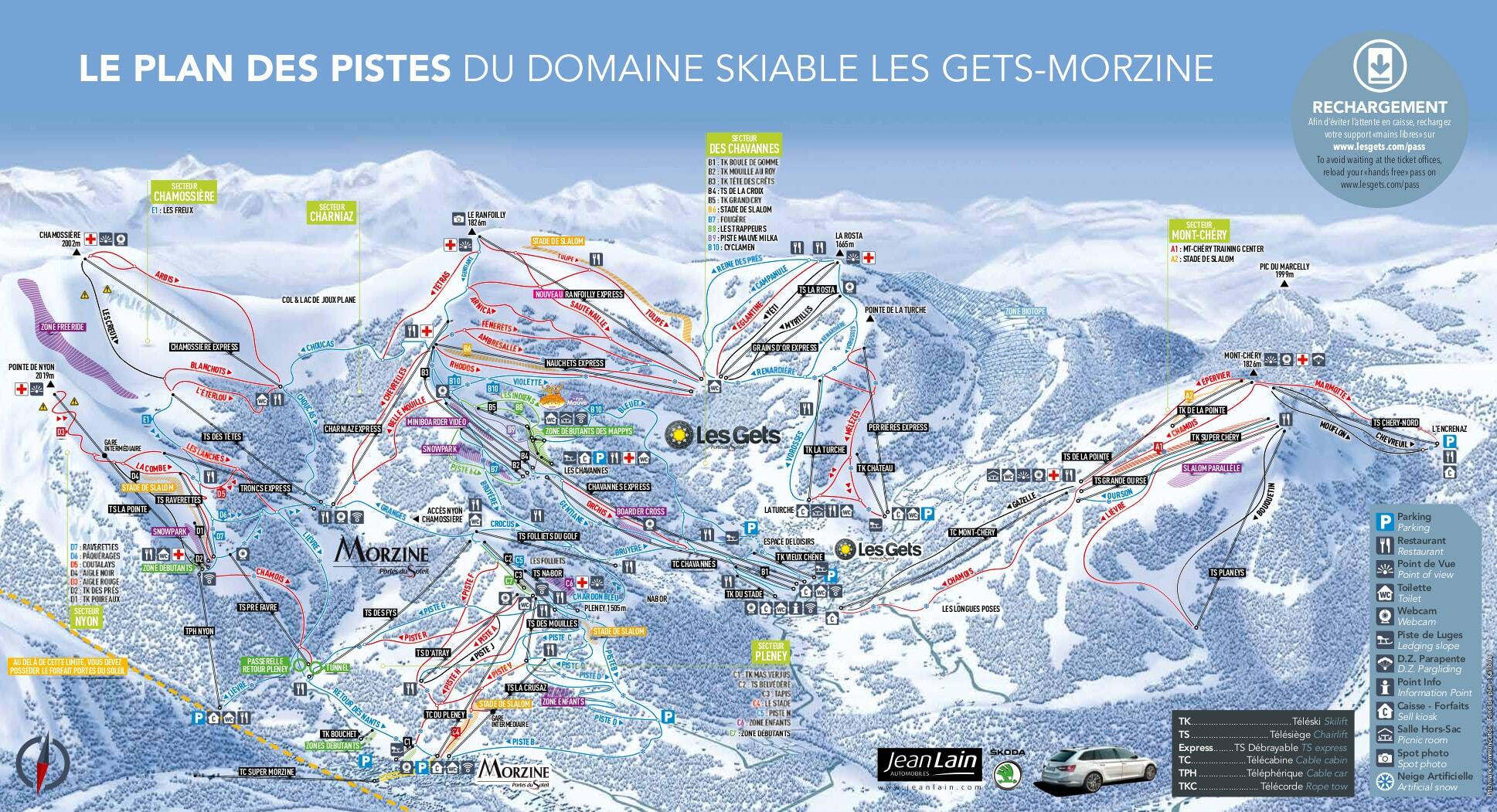 Les Gets Piste Map Trail Map