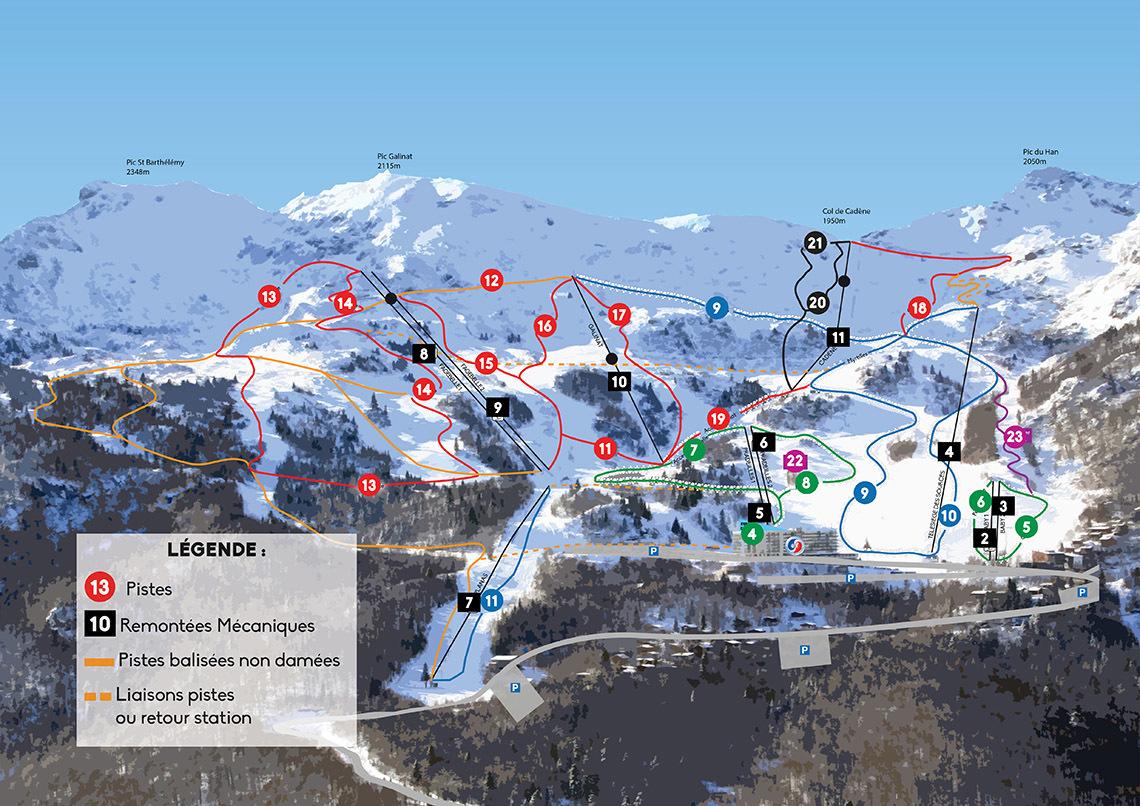 Les Monts D'olmes Piste / Trail Map