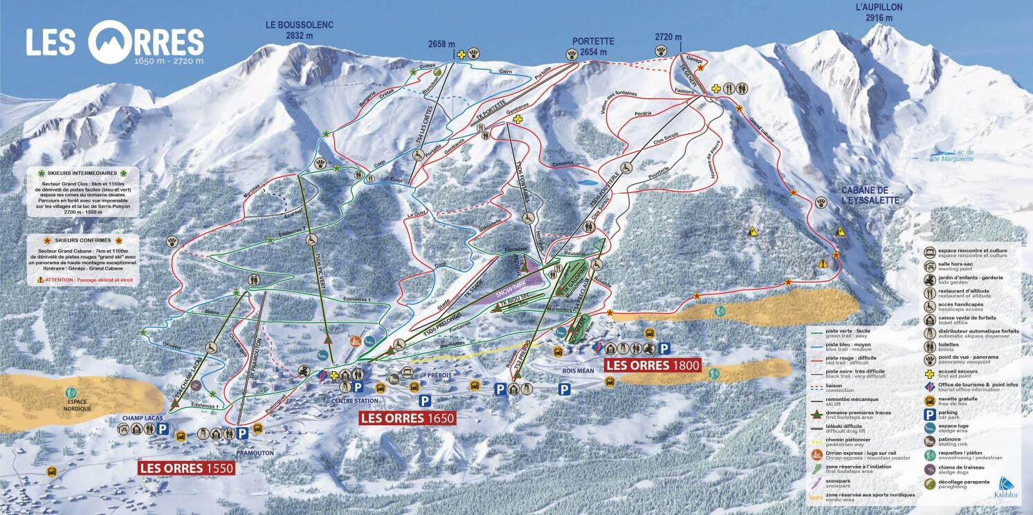 Les Orres Piste Map Trail Map