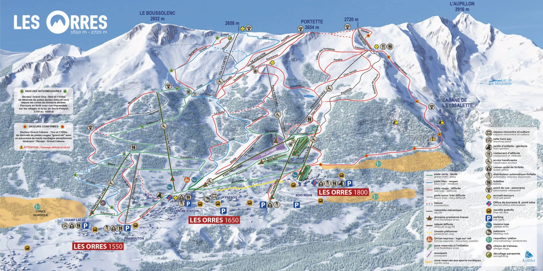 Les Orres Piste / Trail Map